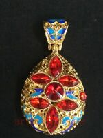 Collection Old Chinese Cloisonne Inlay Jewelry Necklace Pendant Decoration
