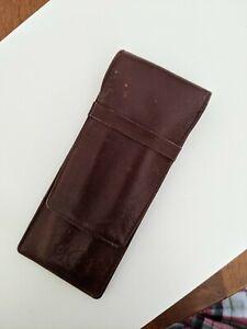Beautiful Vintage Calvin Klein Leather 2 Pen Pocket Case