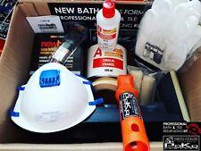 DECO COLOR 8 ITEMS SET KIT NEW BATH SWISS FORMULA ENAMEL BATH & TILE REFURBISH
