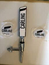 More details for carling tap and handle with oval and round badges home bar man cave