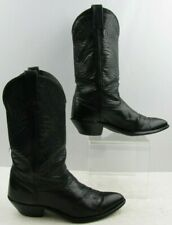 Ladies Black Leather Western Boots Size: 8.5M