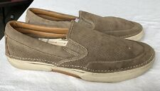 TAUPE BEIGE SUEDE SPERRY TOP-SIDER LOAFERS MEN'S SIZE 13 LARGO SLIP ON 0456781