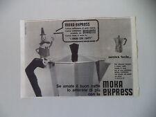 advertising Pubblicità 1963 CAFFETTIERA MOKA EXPRESS BIALETTI