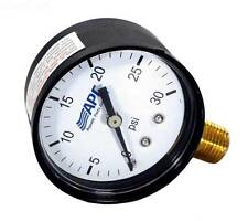 """New 0-30 Psi Pool Spa Filter Pressure Gauge 2""""Face 1/4"""" lower mount w/Free Ship"""