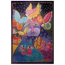 Laurel Burch Canvas Felines Flytterbyes Cat 10x15 Wall Art