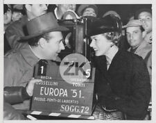 INGRID BERGMAN Camera ROBERTO ROSSELLINI Clap EUROPA 51 Tournage Photo 1951