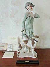 "G. Armani Figure Figurine Statue Sculpture ""Elegance"" Lady Dog Borzoi, Limited"