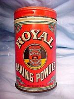 Vintage Tin ROYAL BAKING POWDER 6 oz nice Graphics Good condition. Great Patina