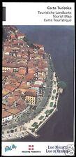 Touristenkarte, Lago Maggiore, Region Pimont, Italien, um 2000