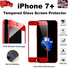 3d Rounded Oleophobic Coated 9h Hardness Tempered Glass for iPhone 7 Plus Red