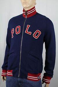 Polo Ralph Lauren Navy Blue Full Zip Sweatshirt Track Jacket NWT