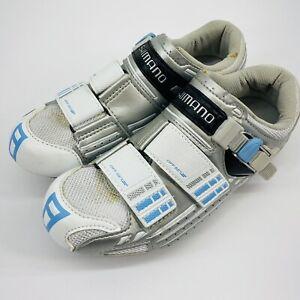 Shimano Women's EU 38 US 6.5 CM 23.8 Cycling Shoes SH-R085W White/Silver/Blue.