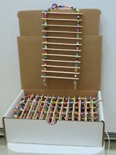 New listing Box Of Ten Small Natural Wood Ladders Bird Toys