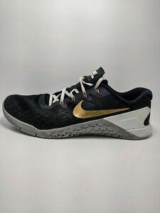 Nike Metcon 3 Custom ID Black White Gold Sz 13 Men's 920369-993