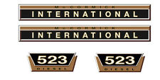 IHC ADESIVI International 523 GOLD LOGO EMBLEMA ADESIVO LABEL
