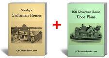 Craftsman Home & Edwardian House Floor Plans 2 Books on CD