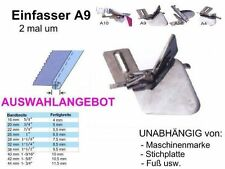 Einfasser A9, GESCHLOSSENE Kanten, Breiten zur AUSWAHL, Universell passend !!