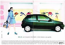 Publicité Advertising 1992 (2 pages) Renault Clio S