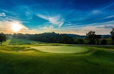 Stampa incorniciata-soleggiata mattina su un campo da golf (PICTURE POSTER SCENIC Sports Art)