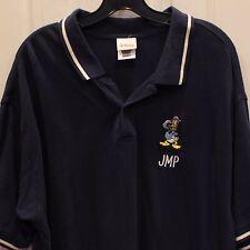 Disney Store Donald Duck Polo Shirt Mens Blue Sz XL Golf Embroidered Pique