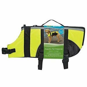 Guardian Gear Aquatic Pet Preserver Life Jacket Vest YELLOW Medium