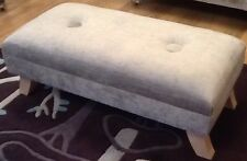 A Quality Long Footstool In Laura Ashley Villandry French Grey Fabric