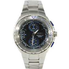 Seiko Criteria SNN009 P1 Silver Black Blue Dial Men's Chronograph Quartz Watch