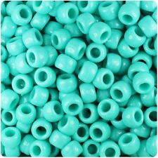 * 3 FOR 2 * 100 X Light Turquoise Opaque 9x6mm Barrel Shape Poney Quality Beads
