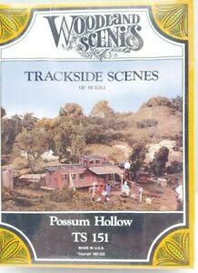 Woodland Scenics TS 151 Possum Hollow HO Scale NIB
