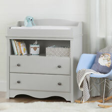 South Shore Angel Changing Table With Drawers Soft Gray Gray