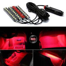 4X9 LED Car Truck Interior Light Floor Decorative Strip Lamp Red Neon Atmosphere