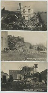 3 1913 Naperville Illinois Lounge Factory Real Photo Postcards RPPC