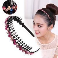 Crystal Rhinestone Teeth Comb Plastic Hairband Hair Hoop Headband for Women ▁
