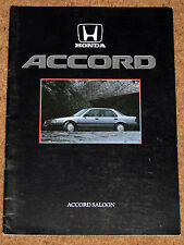 1986 Honda Accord (3ª gen.) folleto de ventas - 2.0 Ex, 2.0 exi Saloon