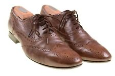 Paul Smith Made in ITALY Brown Leather Wingtip Oxford Dress Shoes US 7 - EU 41