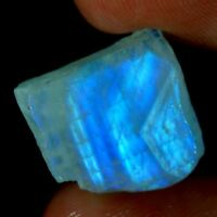 100% Natural Blue Fire Rainbow Moonstone Rough Slab Cabochon Loose Gemstone JGEM