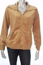 New Women's #2533 Style & Co. Carmel Luxe Velour Full  Zip Jacket Size Large