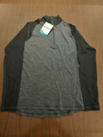 Smartwool Merino 250 Base Layer Quarter-Zip Top - Men's Black Small *New w/Tags*