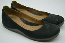 Lovely Clarks Active Air Black Nubuck Leather Flat Ballerinas Size 4D Great Cond