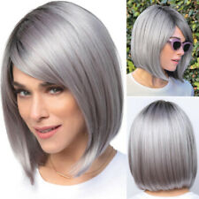 Women Bob Wigs Straight Hair Heat Resistant Cosplay Daily Wig