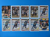 LOT OF 10 GLEN FEATHERSTONE SIGNED HOCKEY CARDS ~ 100% GUARANTEE