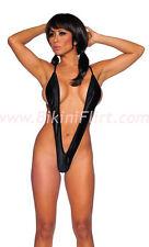 SEXY BLACK XTRA SKIMPY LOW CUT MICRO THONG UNIKINI!! BRAND NEW! ONE SIZE. LOOK!