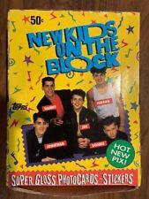 Vintage 1989 New Kids on the Block Nkotb Trading Cards Topps Full Box - 36 packs