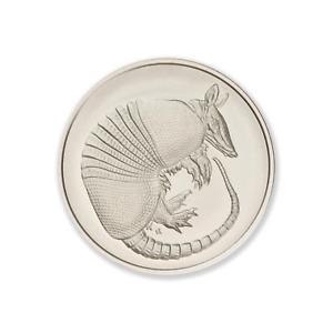 Don't Mess With Texas Series - Armadillo 2 oz .999 Silver USA Made BU Round Coin