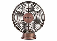 Bronze Metal Desk Top Table Top 2 Speed USB Small Air Breeze Cooling Fan