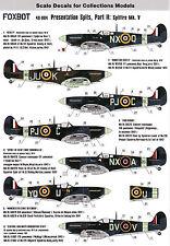 FO48004/ Foxbot Decals - Supermarine Spitfire Mk. V - 1/48 - TOPP DECALS