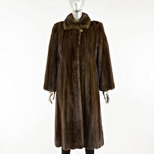 Mahogany Mink Fur Coat 7/8 - Size XS