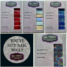 💜💜 Nail Studio 💜💜 Color Nail Polish Strips 100% Real Polish Street Wraps
