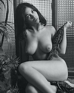 B287 8x10 BUSTY 1960s Pinup, GIGI PEREZ #1B * BIG BEAUTIFUL BREASTS! (NUDES)