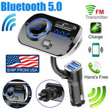 Car Bluetooth Wireless AUX Stereo Audio Receiver FM Transmitter Radio Adapter SD